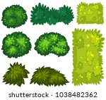 different patterns of green... | Shutterstock .eps vector #1038482362