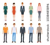 group of people diversity.... | Shutterstock .eps vector #1038485896