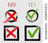 tick and cross test signs ... | Shutterstock .eps vector #1038491812