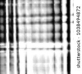 grunge halftone black and white ... | Shutterstock .eps vector #1038494872