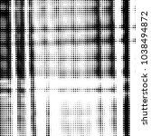 grunge halftone black and white ... | Shutterstock .eps vector #1038494872