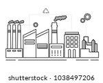 illustration of factory | Shutterstock . vector #1038497206