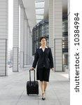 businesswomen walking along... | Shutterstock . vector #10384984