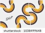 abstract retro background with...   Shutterstock .eps vector #1038499648