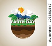 go green earth day poster... | Shutterstock .eps vector #1038503962