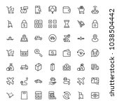 online shopping flat icon set.... | Shutterstock .eps vector #1038504442