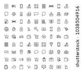 e shopping flat icon set .... | Shutterstock .eps vector #1038504916