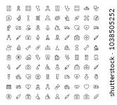 cancer icon set. collection of... | Shutterstock .eps vector #1038505252