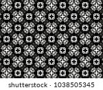 ornament with elements of black ... | Shutterstock . vector #1038505345
