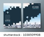 annual report brochure  flyer... | Shutterstock .eps vector #1038509908