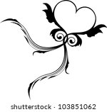 flying heart | Shutterstock .eps vector #103851062