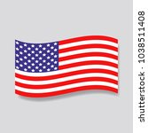 usa flag icon. american symbol. | Shutterstock .eps vector #1038511408