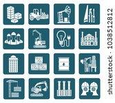 industrial icon set vector... | Shutterstock .eps vector #1038512812