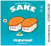 vintage japanese food poster... | Shutterstock .eps vector #1038513628