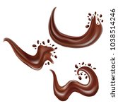 realistic detailed 3d chocolate ... | Shutterstock .eps vector #1038514246