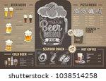 vintage beer menu design on... | Shutterstock .eps vector #1038514258