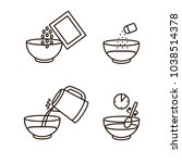cooking instruction oatmeal... | Shutterstock .eps vector #1038514378