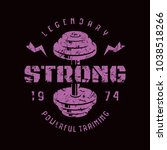 gym club emblem. graphic design ...   Shutterstock .eps vector #1038518266