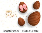 happy easter decorative... | Shutterstock .eps vector #1038519502