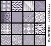 set of intricate lined patterns | Shutterstock .eps vector #1038521122