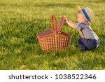 portrait of toddler child... | Shutterstock . vector #1038522346