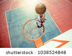 high angle view of basketball...   Shutterstock . vector #1038524848