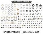 vintage retro vector logo for... | Shutterstock .eps vector #1038532135