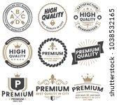 vintage retro vector logo for... | Shutterstock .eps vector #1038532165