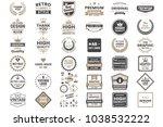 vintage retro vector logo for... | Shutterstock .eps vector #1038532222