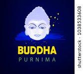 abstract buddha purnima   guru... | Shutterstock .eps vector #1038533608