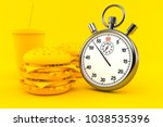 fast food background with... | Shutterstock . vector #1038535396