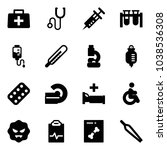 solid vector icon set   doctor... | Shutterstock .eps vector #1038536308