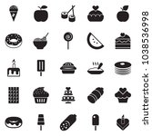 solid black vector icon set  ... | Shutterstock .eps vector #1038536998