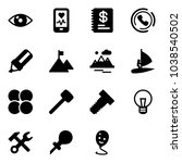 solid vector icon set   eye... | Shutterstock .eps vector #1038540502