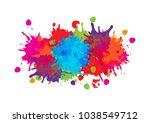 abstract splatter color... | Shutterstock .eps vector #1038549712
