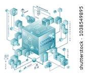 cryptocurrency vector...   Shutterstock .eps vector #1038549895