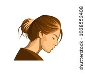 women beauty vector logo | Shutterstock .eps vector #1038553408