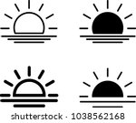 sunrise icon  sun rise vector... | Shutterstock .eps vector #1038562168