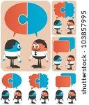 cooperation  conceptual... | Shutterstock .eps vector #103857995