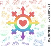 vector rainbow symbol of a...   Shutterstock .eps vector #1038584785