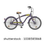 city cruise bicycle. vector... | Shutterstock .eps vector #1038585868