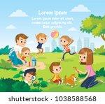 vector portrait of happy family ... | Shutterstock .eps vector #1038588568