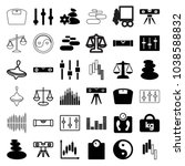 balance icons. set of 36... | Shutterstock .eps vector #1038588832