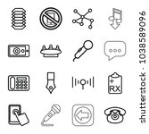 communication icons. set of 16...   Shutterstock .eps vector #1038589096