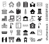 architecture icons. set of 36... | Shutterstock .eps vector #1038589102