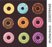 donut seamless background... | Shutterstock .eps vector #1038598468