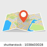 city map with navigation.... | Shutterstock .eps vector #1038603028