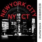 newyork city tee graphic design | Shutterstock .eps vector #1038604228