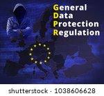 gdpr   general data protection... | Shutterstock . vector #1038606628