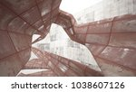 empty smooth abstract room...   Shutterstock . vector #1038607126